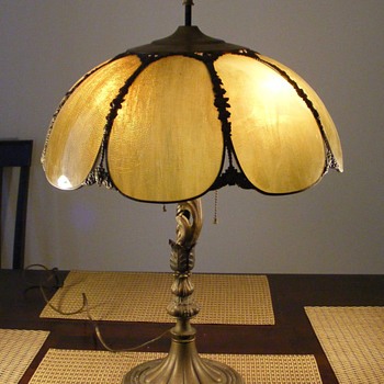 Art Nouveau Metal Table Lamp...ID?