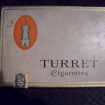 Turret cigarettes tin. - Tobacciana