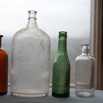 Unmarked Old Bottles Lot #2 Info Please - Bottles
