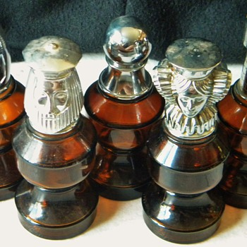 Partial Avon After Shave Chess Set - Bottles