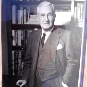 Charles Edison signed photograph - Photographs