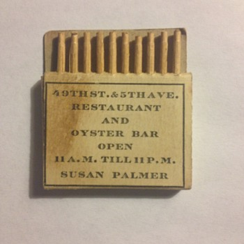My favorite matchbook