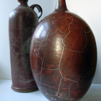 2 Uwe Schellbach vases - Pottery