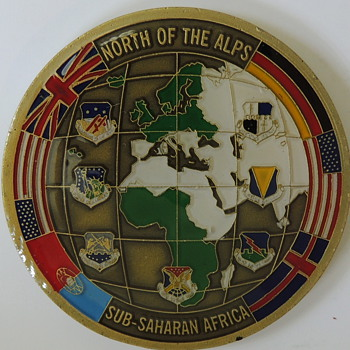 Third Air Force - North of the Alps - Sub-Saharan Africa  - Challenge Coin - Military and Wartime