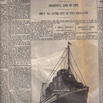 Original Titanic Newspaper article