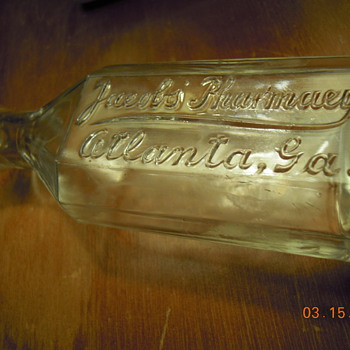 Jacobs&#039; Pharmacy Bottle c. 1900