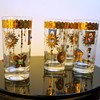 1960s Promotional Novelty Jeweled Glasses Turtle Sun Butterfly Unsigned Culver Barware