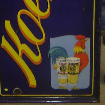 Awesome Foreign Porcelain Beer Sign - Advertising