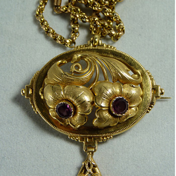 A Brooch/Necklace by Otto Roland Mellin of Finland, 1874 - Fine Jewelry