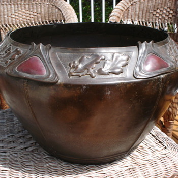 COBOCHON DECORATED COPPER JARDINIERE