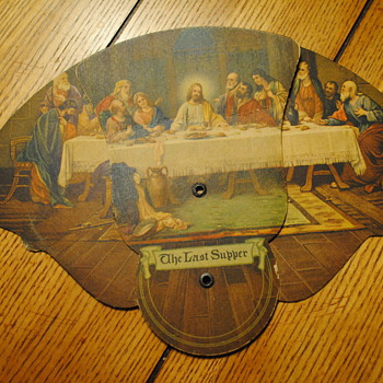 Last Supper Funeral Home Fan - Advertising