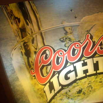 "26 x 26"" coors light sign"