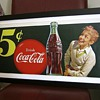 Coca Cola paper banner sign, 1950s era