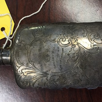 Inscribed flask