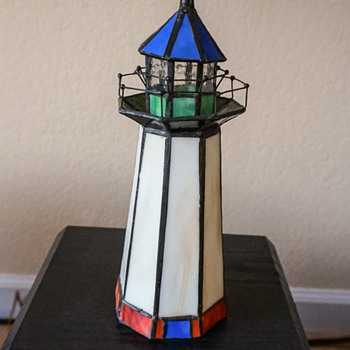 Stained Glass Lighthouse Night Light.