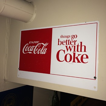 1970's Coke double sided sign