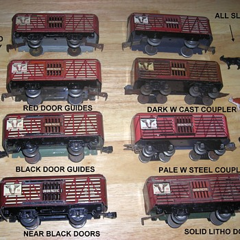 Marx 559 stock - cattle cars - Model Trains