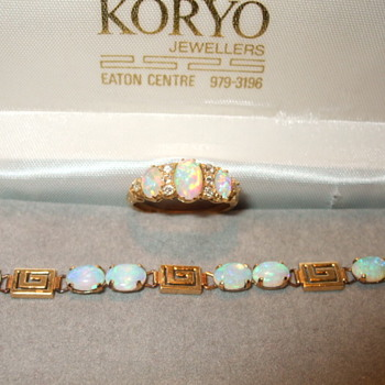 Old and New Opal Studded items