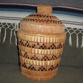 Salish Basket made for John McClelland Jr. 