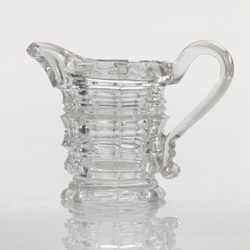 Pressed Glass Creamer  - Glassware