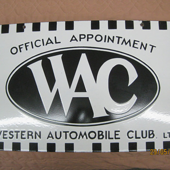 Western Automobile Club - Petroliana