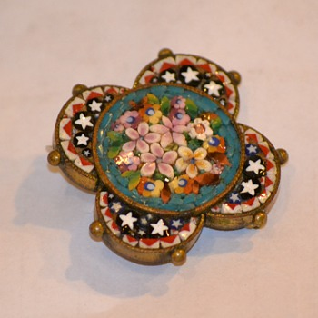 My Second Micro Mosaic Brooch - Fine Jewelry