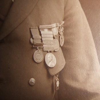 USN wearing the Sampson Medal, GCM and other awards - Photographs