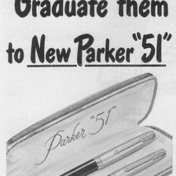 "1951 - Parker ""51"" Pen/Pencil Sets Advertisement - Advertising"