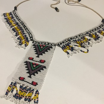 African Loom Beaded Necklace