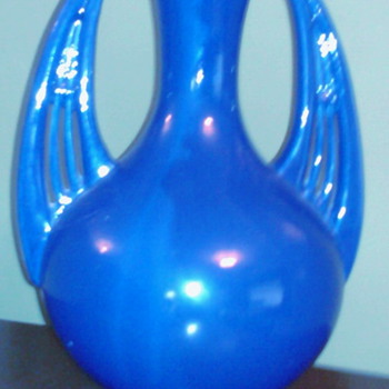 Cobalt Blue Vase - Art Pottery