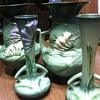 Roseville Freesia vases
