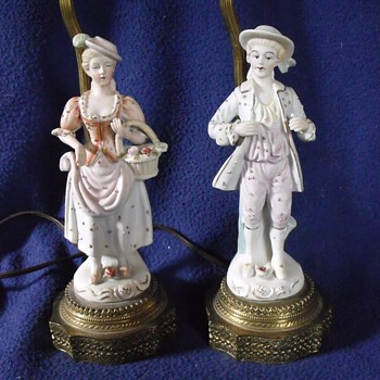 French Victorian table Lamps