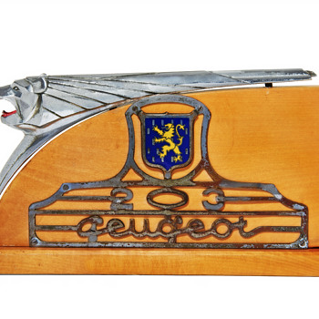 The Peugeot 203 Mascot On Base by Henri Malartre, circa 1948 to 50. - Art Deco