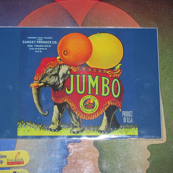 Jumbo Fruit Label - Animals