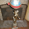 Vintage Schlitz Lady Glode Statue.