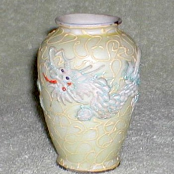 Porcelain Dragon Vase - Japan - Asian
