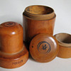 Victorian Boxwood Poison Jars with Masonic Symbols