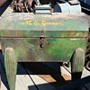 Unusual metal tool chest with legs and casters