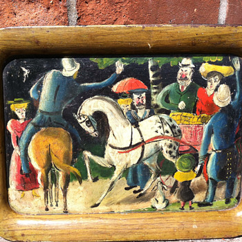 Hand painted tray - Visual Art