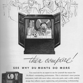 1951 - DuMont Television Advertisement - Advertising
