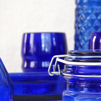 Cobalt Blue Bottles &amp; Glassware - Bottles