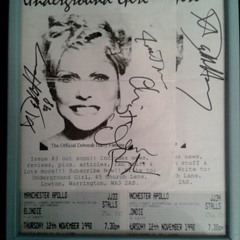 My Blondie Autographs :) - Music