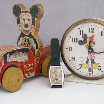 Mickey Alarm, Watch & Pull-Toy - Wristwatches