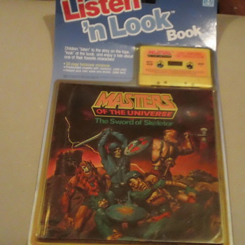 VINTAGE 1985 LISTEN 'N LOOK MASTERS OF THE UNIVERSE SEAL & MINT - Books