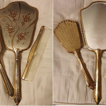 Vintage Vanity Sets, (mirror, brush comb set)