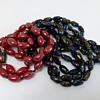 Art Deco iridescent glass necklaces