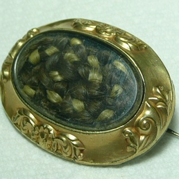 Family Victorian Woven Hair Pin  - Victorian Era
