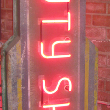 Vintage 1940's BEAUTY SHOP Antique Double Sided Neon Sign