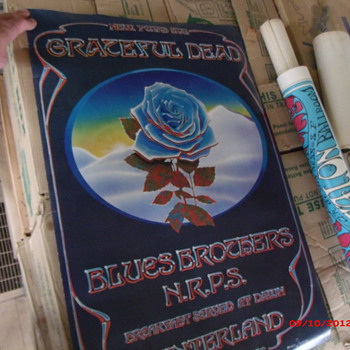Grateful Dead Poster New Year's Eve Winterland 1978 with Blues Brother's and N.R.P.S. - Music