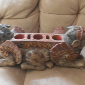 antique foo dog (Shishi) incense holder